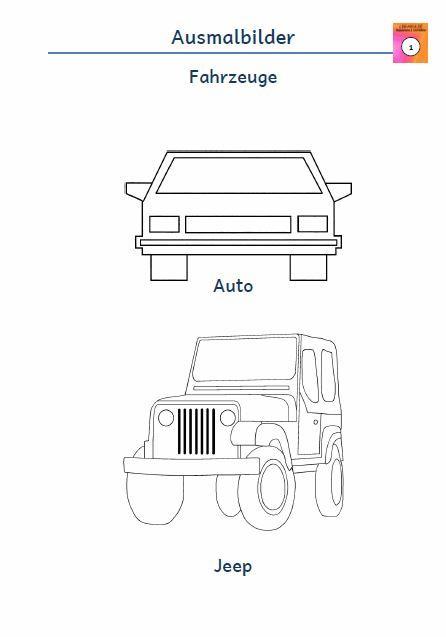 Kostenloses Arbeitsblatt Ausmalbild Auto Jeep Kostenlose Ausmalbilder