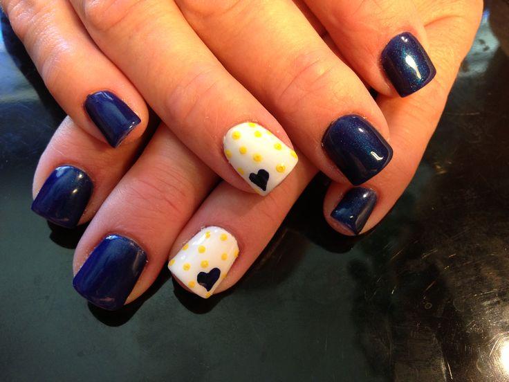 GO BLUE! Current nails