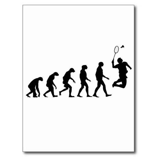 Évolution de l'homme - badminton