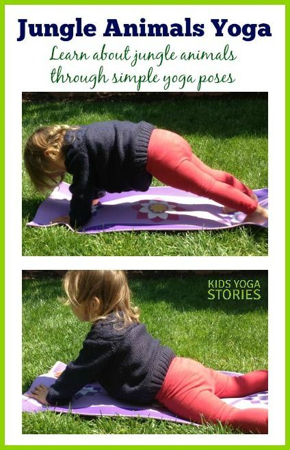 Jungle Animal Yoga sequence by Kids Yoga Stories on The Inspired Treehouse