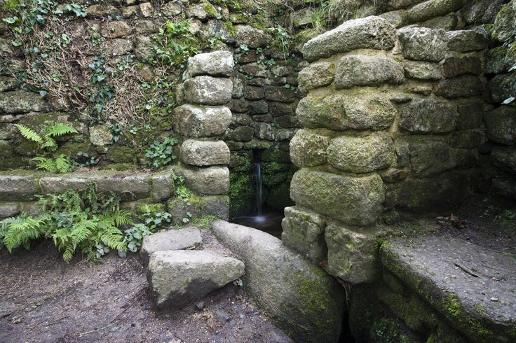 One of several reputed holy wells throughout Cornwall, Madron Well stands near the remains of a 12th century chapel and is named for the Christian Saint Madern. The well's significance as a holy site is believed to derive, however, from pre-Christian pagan worship.