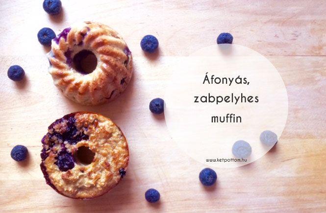 Áfonyás, zabpelyhes muffin