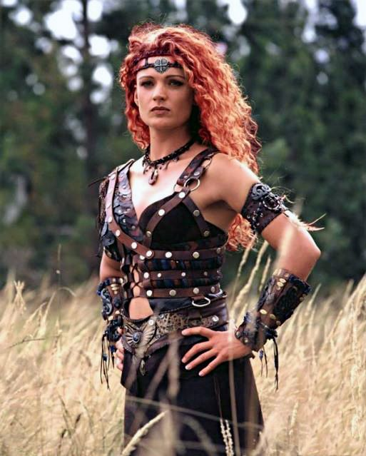 Amazon Celt. (think Boudica, Queen of the Iceni 61AD) that beautiful curly hair and hair color though