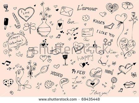 Valentine's doodle set