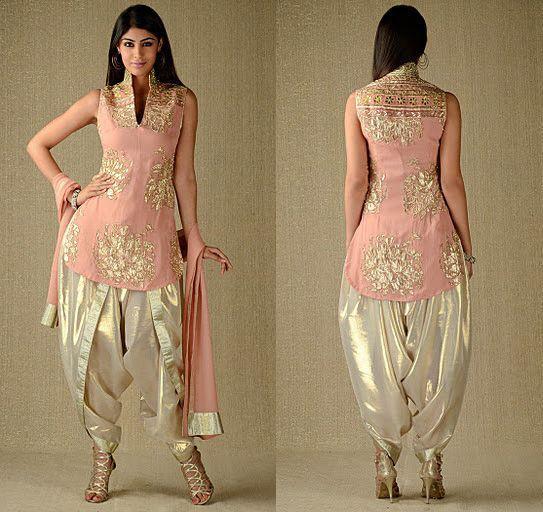 dhoti salwar kameez latest collection