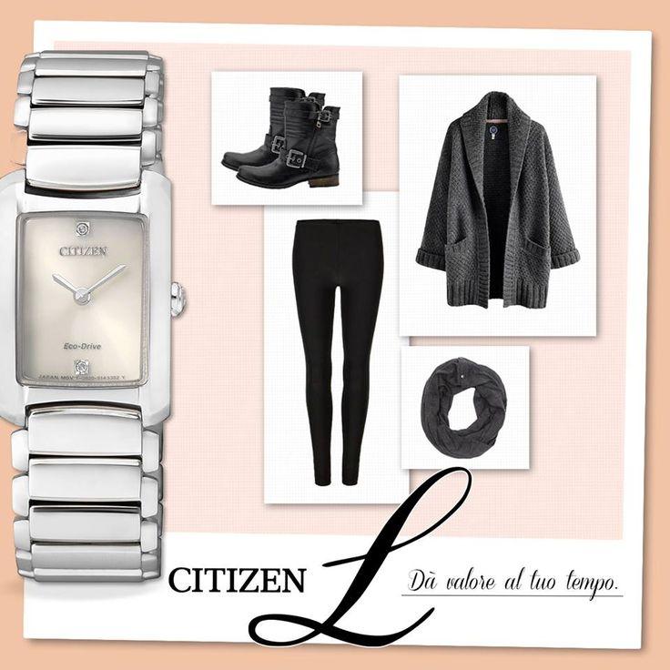 Affronta i primi freddi con abiti comodi, ma senza rinunciare allo stile. Basta aggiungere al tuo outfit un orologio gioiello, come questo raffinato Citizen L con due diamanti incastonati.