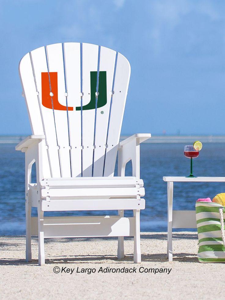 Key Largo Adirondack Company - High Top Patio Chair - University of Miami Hurricanes, $403.19 (http://www.keylargoadirondack.com/high-top-patio-chair-university-of-miami-hurricanes/)