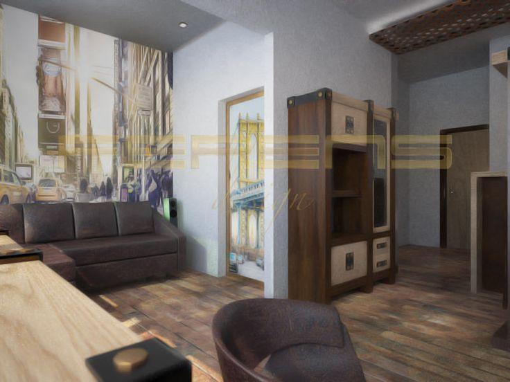 architekt FERENS design joanna ferens - hofman warszawa wizualizacje   MIESZKANIE BYTNARA