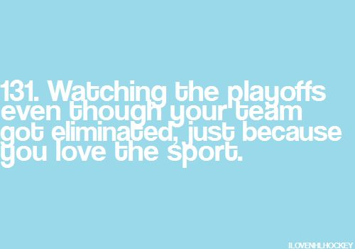 Either way hockey is the greatest game on earth... support!