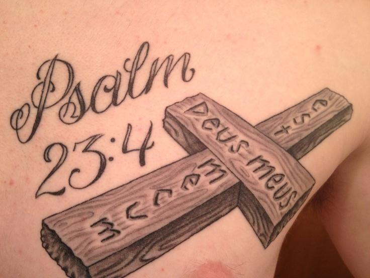 psalm 23 4 cross tattoo wwwpixsharkcom images