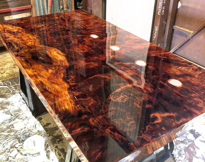 River Table Bartop 12ft Live Edge With River Stone In 2020 Slab Desk Redwood Slabs Wood Table Design