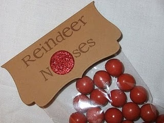 Reindeer Noses... This is such a great idea! It even cuter when you use eight chocolate Woppers and then one red one for Rudolf and the other eight reindeer.