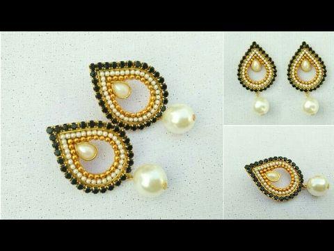 How To Make Designer Earrings // How To Make Paper Earrings // Paper  Jewellery Making //DIY