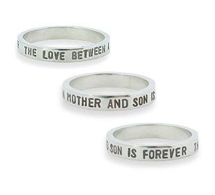 Ring met tekst, the love between mother and son is forever #love #moeder #zoon #kind #mooi #persoonlijk #vrouw #sieraden #liefde #cadeau