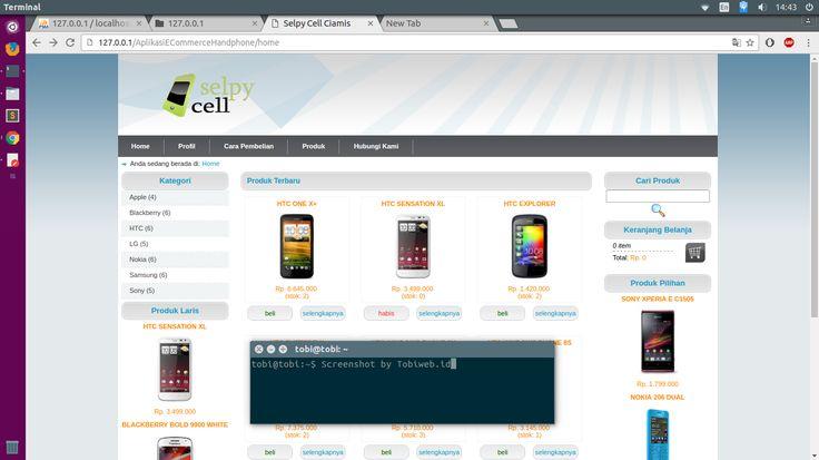 Aplikasi E-Commerce/ TokoOnline Penjualan Handphone Dengan PHP MySQL - Gratis