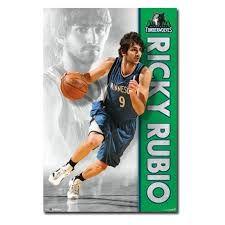 Resultado de imagen para poster de jugadores de basquetbol ricky rubio