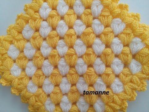 Yapımı Farklı ve Kolay lif yapımı & How to make knitting tutorial   حرف يدوية - YouTube