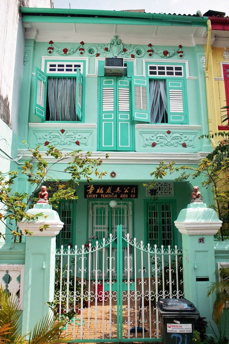 Singapore Peranakan shophouses.Photo credit to urban-patterns.blogspot