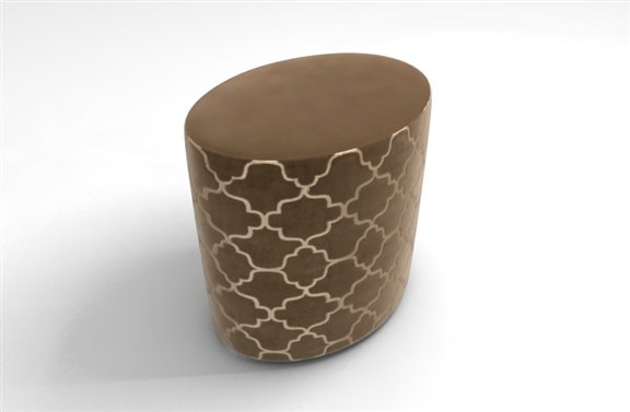 Fado - customize your own to match your interior. Oval-shapped stool. www.thevelvetlab.com