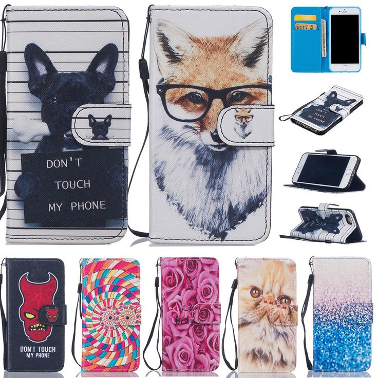 Hot Painted Pattern Card Stand Leather Wallet Case Cover For iPhone 5S 6S 7 Plus #UnbrandedGeneric