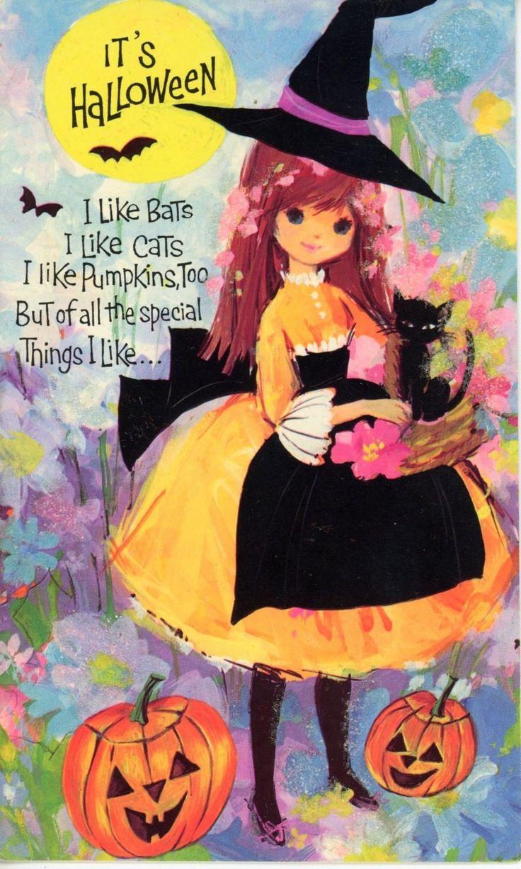 1080 Best Halloween Vintage Cards Images On Pinterest Old Cards