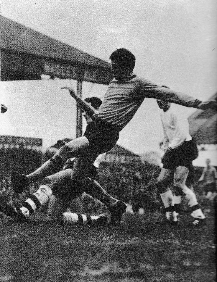 21st February 1970. Hull City striker Chris Chilton in action against Preston North End, at Deepdale.