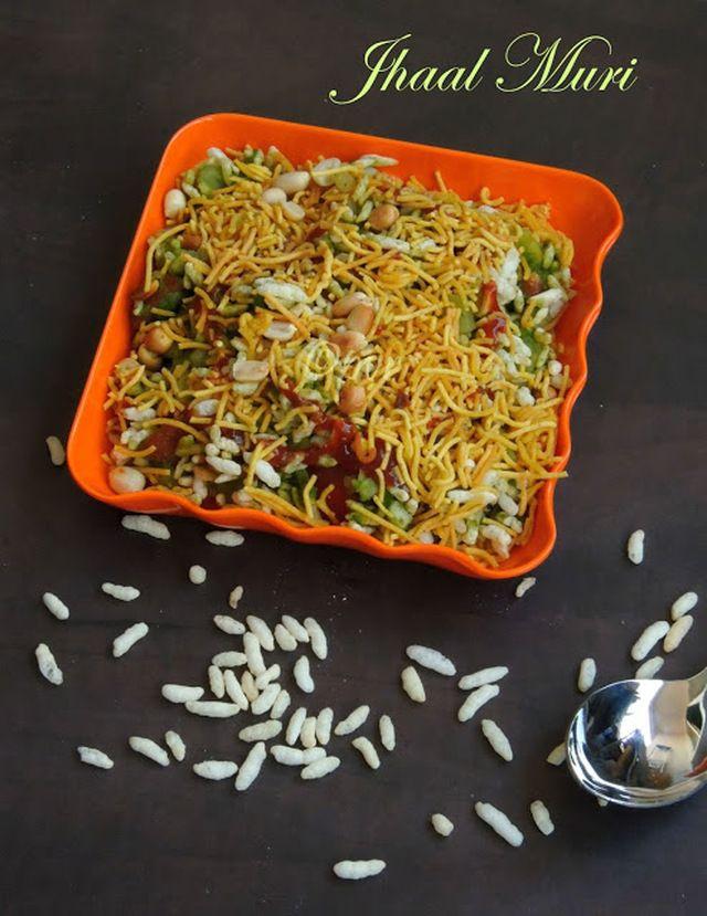 Jhal Muri/Spicy Puffed Rice/Jhaal Muri
