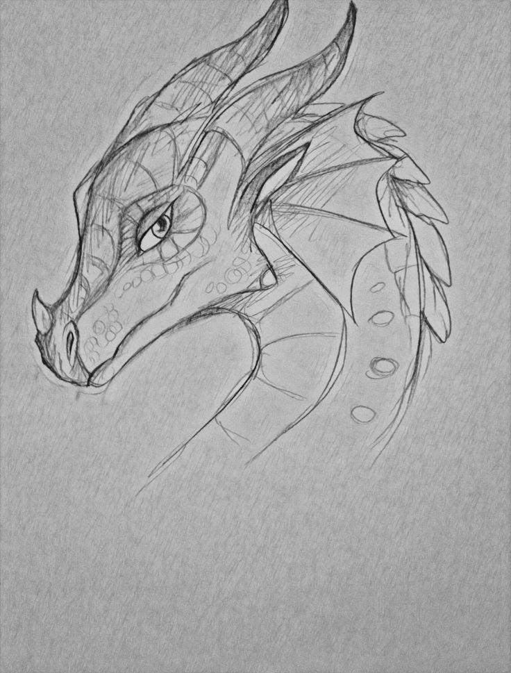 Крутые рисунки драконов простым карандашом, хорошего дня