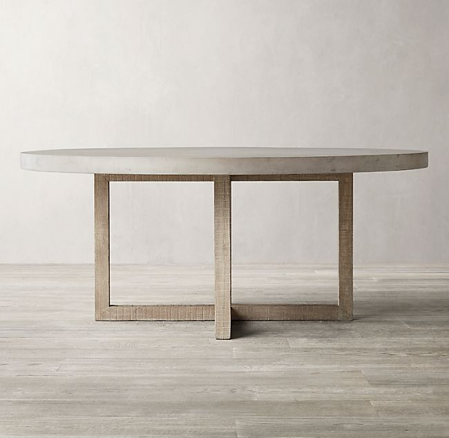 Heston Round Dining Table In 2020 Round Wood Dining Table Concrete Top Dining Table Round Concrete Dining Table