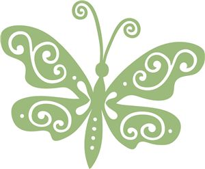 Silhouette Online Store - View Design #13055: swirl butterfly