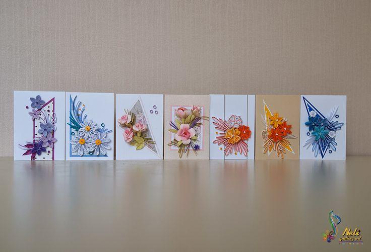 neli: Small quilling cards/7.5 cm-5.2 cm/