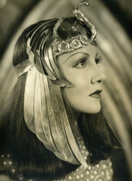 Claudette Colbert - by Ray Jones (1903-96) French-born actress; she appeared in 60 films and made many stage appearances. Colbert in the title role of Cleopatra in Cecil B. DeMille's 1934 film.