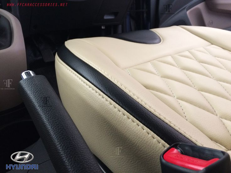 Factory  made seat cover installed on Hyundai Xcent by team ff car accessories. One of the best seat cover installer in Chennai.