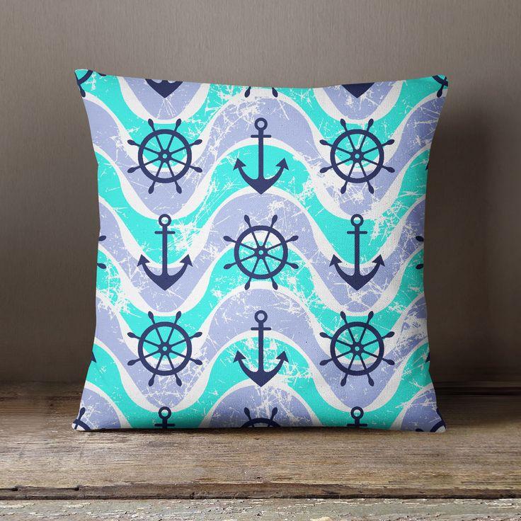 S4Sassy Mediterranean Style Ocean Square Pillow Decorative Cushion Cover Throw