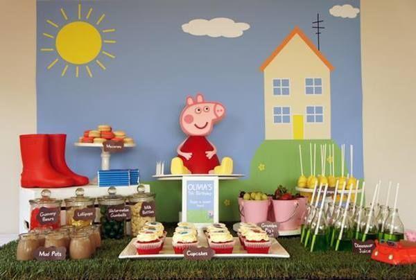 Impresionante fiesta temática para niños de Peppa Pig
