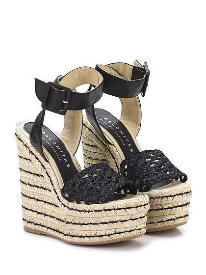 PALOMITAS Women's fashionable sandals black color number 40 Sandali alla moda