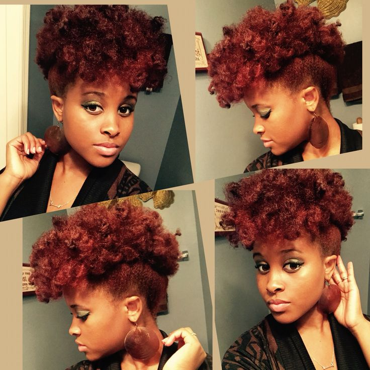 Natural hair curly updo