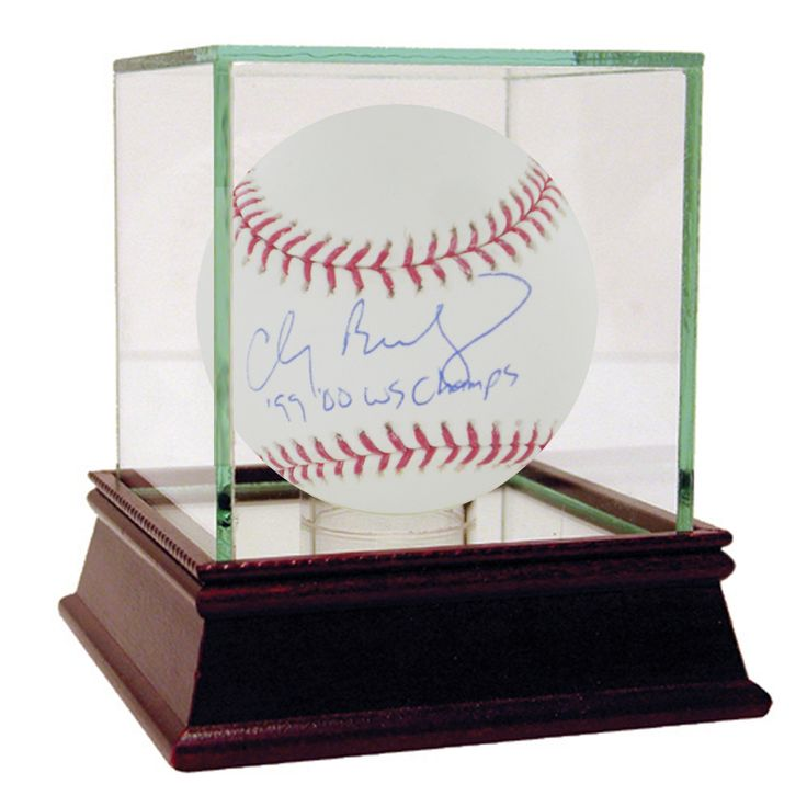 Clay Bellinger MLB Baseball w/ '99, 00 WS Champs' Insc.