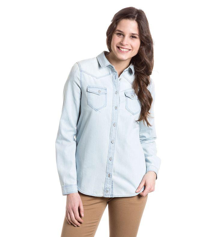 Sklep internetowy C&A | Bluzka dżinsowa, kolor:  dżins-jasnoniebieski 37,90zl