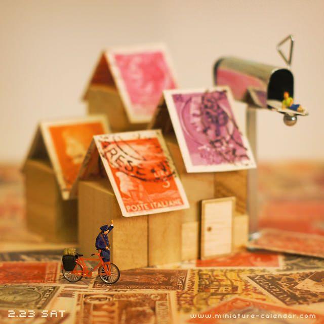 Postman  http://miniature-calendar.com/130223/
