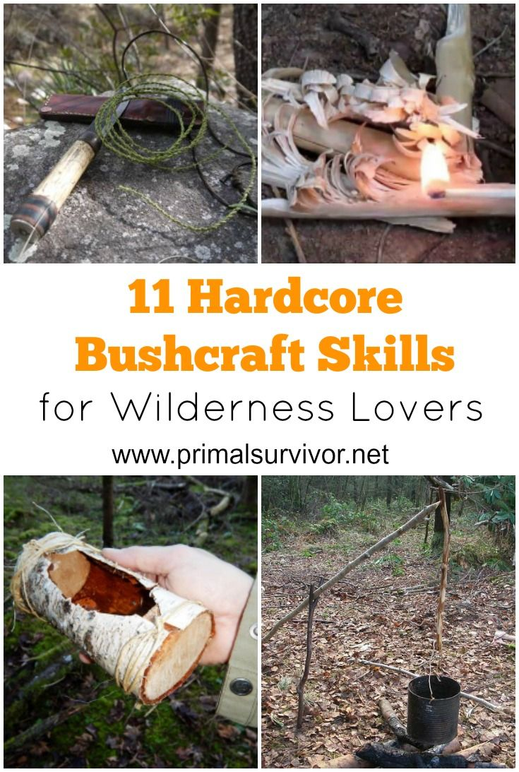 "11 Bushcraft Skills Hardcore Wilderness Lovers Will Want to Master Now.There is nothing like going into the wilderness with nothing but a few basic supplies and your own wits. I know that I'm not alone in this thought. There's recently been a huge surge in people learning bushcraft skills. In short, bushcraft is a way to enjoy nature without feeling pressure that there is a ""right"" or a ""wrong"" way of doing it. (If you are doing it wrong, you'll know it when you have to head home early…"