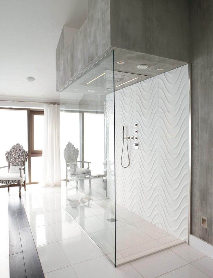 Seta Carrara Wave Tile Shower Back And Thassos Floor Tiles   Contemporary    Bathroom   London   Lapicida Stone Group
