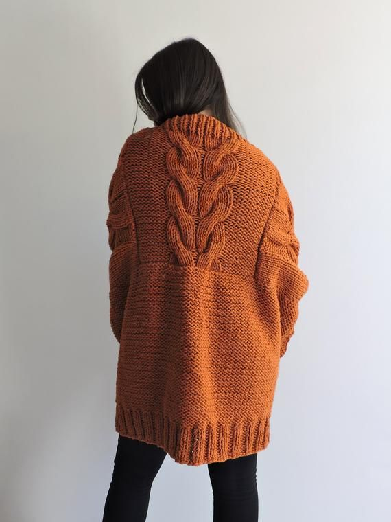 8b3d01cc2 Hand knitted sweater Womens sweaters Knit jacket Cardigans