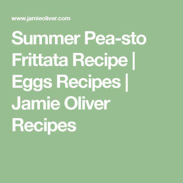 Summer Pea-sto Frittata Recipe | Eggs Recipes | Jamie Oliver Recipes