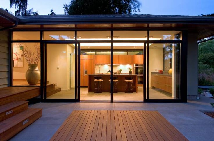 Folding doors: the best way to expand your living/dining/kitchen space.