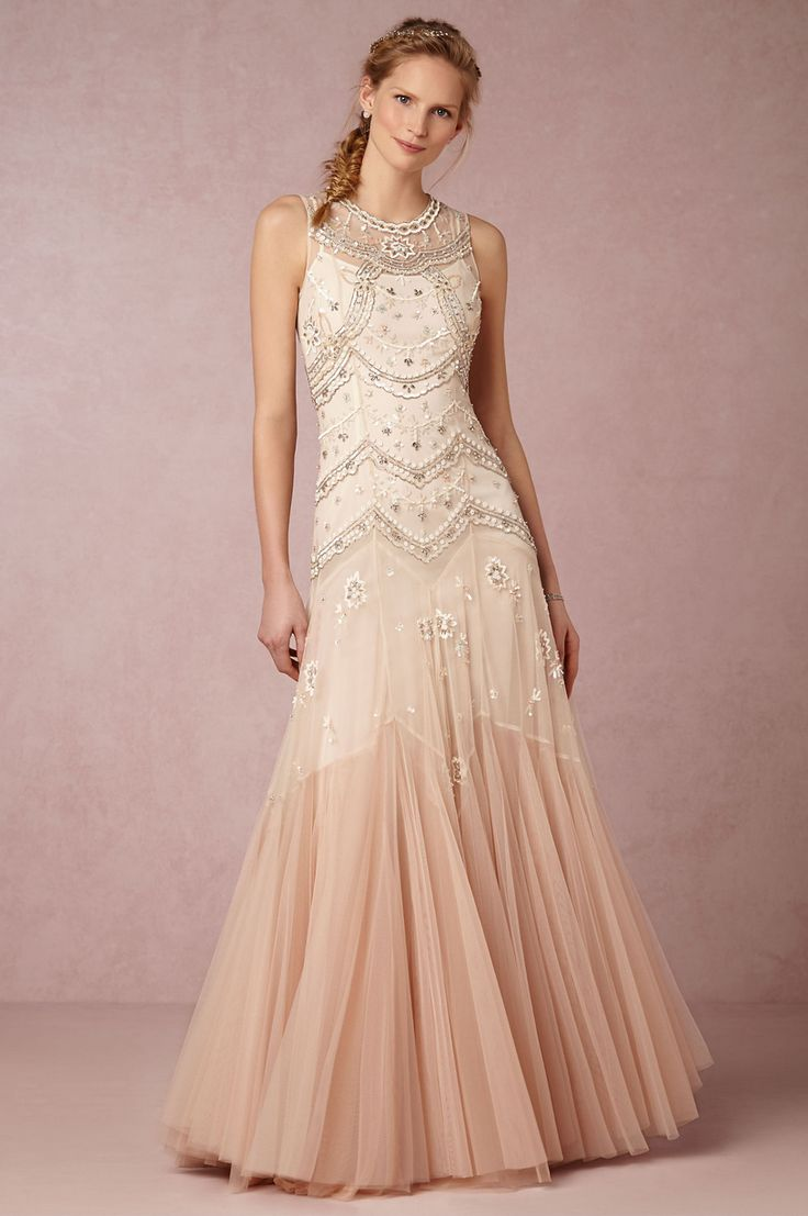 931 best images about blush weddings on pinterest for Blush vintage wedding dress