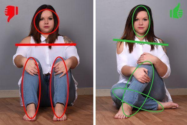 Runde Frauen: 4 entschlüsselte Foto-Posen, um zu …