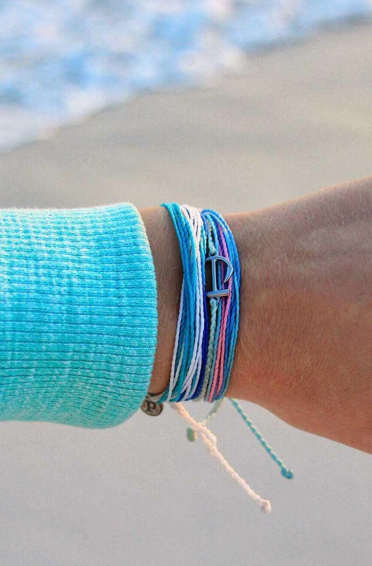 VIDA Leather Accent Tag - Seashell Blue by VIDA EwaOL1