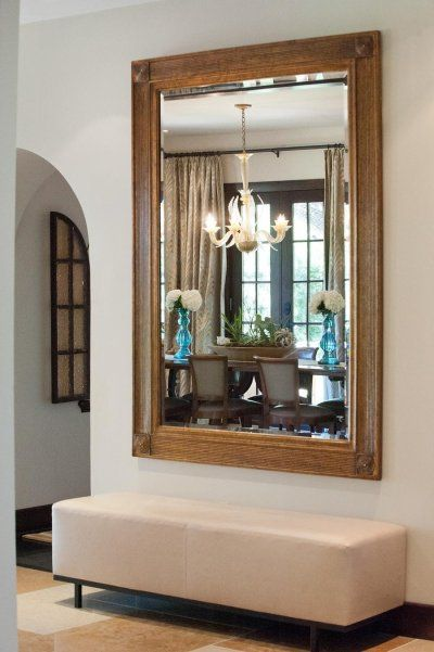 25 best ideas about entry mirror on pinterest front for Hallway mirror and shelf