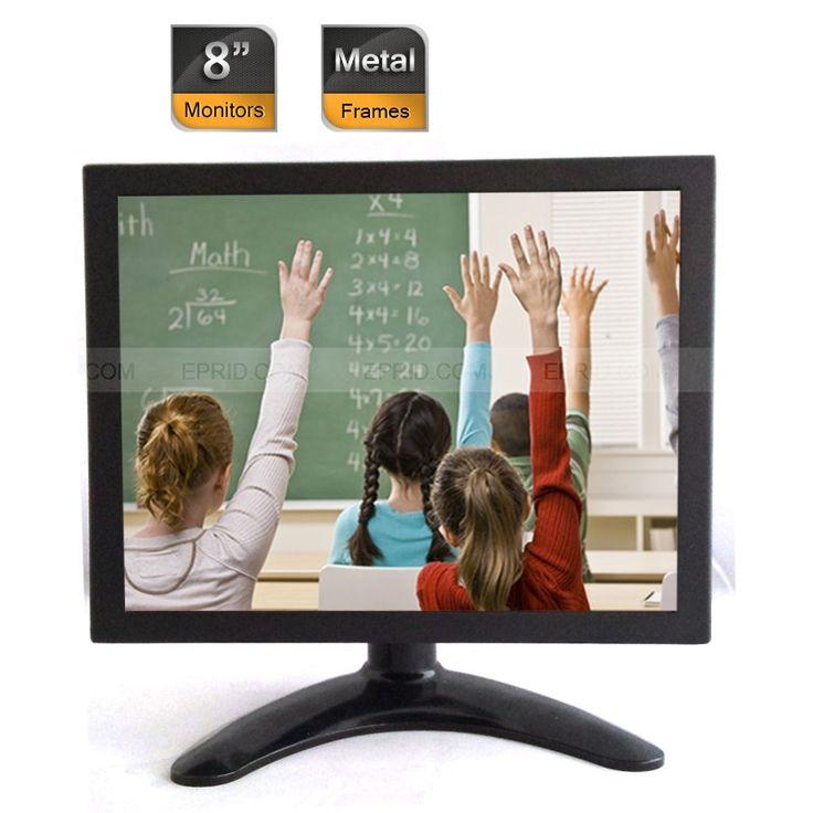 "10PCS 8"" Professional CCTV Security Color LCD Monitor BNC VGA AV Port Metal Frames"